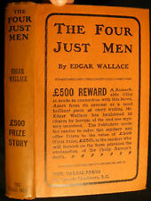 1905 FOUR JUST MEN MYSTERY CONTEST 1st Ed WITH CONTEST ENTRY SLIP AT BACK