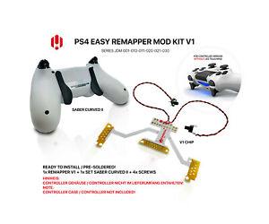 Easy Remapper V1 | MOD KIT SABER CURVED 2 | JDM 001 - 030 | für PS4 Controller