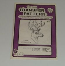 Pretty punch vintage Deer#811 Embroidery needlepoint canvas textile painting DIY