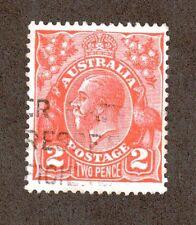 Australia Scott 28 - King George V 2 Pence.  Used. #02 AUS28a