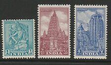 India 1950-51 Set of 3v SG 333-333c Mnh.