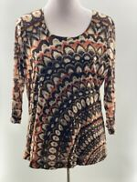 Chicos size 3 woman's top pre-owned in EUC. 3/4 sleeve length.