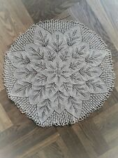 Round Lace Crochet Flower Table Cloth Cover Runner Scarf Topper Vintage Style