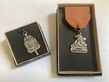 1949-50 Brown University Sterling Wrestling Medal and Key