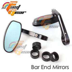 Bar End Mirrors Black Reverse Retro CNC For Ducati Multistrada Monster 821