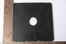 "6 3/8"" Square Lens Board with 34.6mm Copal #0 Unthreaded Opening - USED F07A"
