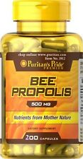Bee Propolis 500 mg x 200 Rapid Release Capsules Puritan Pride* AMAZING PRICE *
