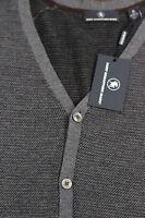 NWT Mens XL Hart Schaffner Marx Charcoal Textured Wool Button Down Cardigan New