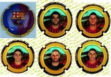 Colección 6 chapas placas de Cava Oficiales nuevos jugadores FC Barcelona FCB