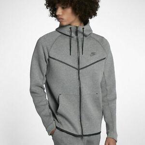 NWT Men's Nike Tech Fleece Windrunner Hoodie Heather Grey 2XLT 805144 091