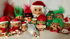 14x Christmas Russ Trolls Santa Snowman Gingerbread Tree Elf Candycane Reindeer