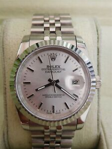 ❅❆Rolex Mens Watch Datejust Oyster Perpetual Steel 18K White Gold Case
