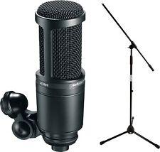 Audio Technica AT 2020 Studio Kondensator Mikrofon SET mit Red Rock Mikro Stativ