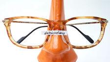 Brille Benetton Marken Fassung Gestell Hornoptik braun lunettes Rahmen size M
