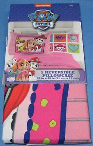 "One Reversible Pillow Case ~ 20"" x 30"" ~ Paw Patrol"