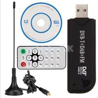 USB 2.0 TV Stick Tuner Receiver Adapter Worldwide Analog for PC Laptop DVD