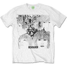 The Beatles T Shirt Revolver Album Cover Band Logo Official Mens White XXL