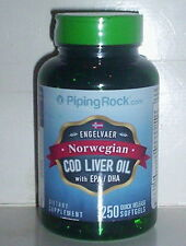 NORWEGIAN COD LIVER OIL W/ EPA DHA VITAMINS A & D IMMUNE SUPPLEMENT 250 SOFTGELS