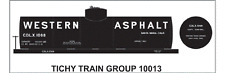 Tichy Train Group #10013 HO Scale Western Asphalt 10,000 Gallon Tank Car Decals