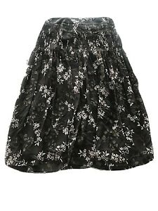 Ann Taylor Womens Midi Skirt High Waist size 0 Floral Color Brown And Rose