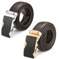 Luxury Men's High Quality Leather Automatic Buckle Waist Strap Belt Waistband