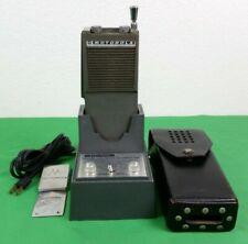 Vintage Motorola HT200 Handie Talkie 2 Way Radio w/ Charger, Clip & Case
