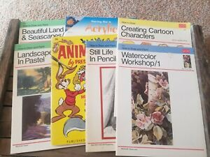 Walter Foster Art Instruction Books: How To Draw And Paint, Cartoons Lot Of 7