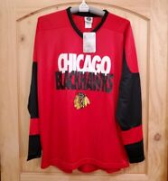 NWT NHL Authentic Chicago Blackhawks Red Hockey Jersey New Mens Size L