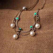 Boho Charming Jewelry Elegant Fashion Gemstone Pearls Pendant Chain Necklace