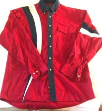 VINTAGE RED WRANGLER BUTTON FRONT SHIRT SIZE M
