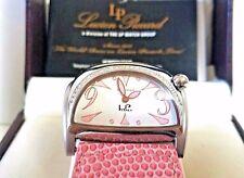Lucien Piccard Women's Stratosphere Diamond Pink Textured Genuine Leather Watch