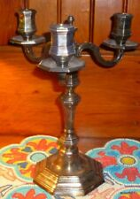 Vintage Christofle France Silver Plate Three Point Table Candelabra