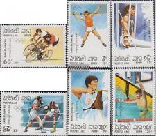 Laos 1155-1160 (complète edition) neuf avec gomme originale 1989 Jeux Olympiques