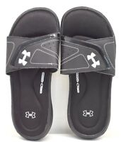 Under Armour Ignite VII Slide Black Silver US Sz 6 - FREE SHIPPING - BRAND NEW