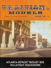 Traction & Models Magazine : January 1970 : Atlanta-Detroit Trolley Bus