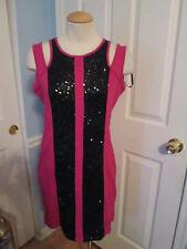 2b bebe giovanna panel sequin dress m nwt   #479