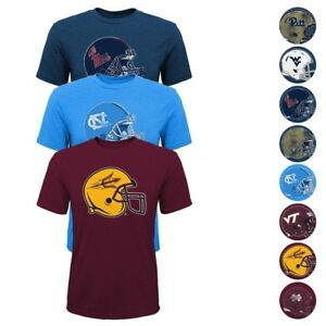 """NCAA Outerstuff Team """"Sketch Helmet"""" Tri-Blend T-Shirt Collection Youth (S-XL)"""