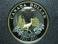 2011 100th Anniversary of Parks Canada - Canadian Gold Plated Silver Coin