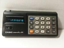 Vintage Casio Memory-8R Calculator Tested Working With Soft Case
