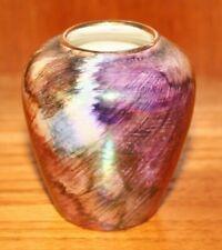 "Pretty ~Vintage ~Purple Flower ~Bud Vase ~3"" Tall ~VGC (SC31)"