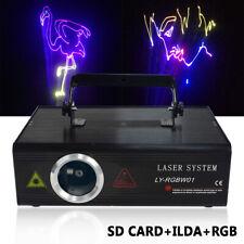 80W 500mW RGB DMX Bühnenlicht Animation Laser Showlaser DJ Stage Effekte+ILDA