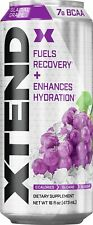 XTEND | Carbonated Hydration & Recovery Drink, NO Cals, NO Sugar | Grape 12 cans