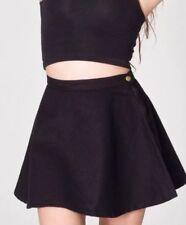 ORIGINAL American Apparel Natural Denim Circle Jean Flare Skirt Jet Black XS NEW