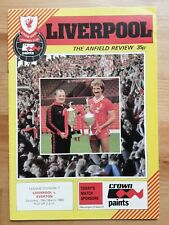 LIVERPOOL v EVERTON  First Division 1982/3