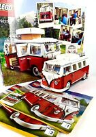 Lego Creator Volkswagen T1 Camper Van (10220) Kombi Collector Set Box Manuals