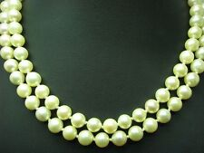 Akoya-Pearls Chain with 14kt 585 Gold Clasp & 0,45ct Diamond Decorations/37cm