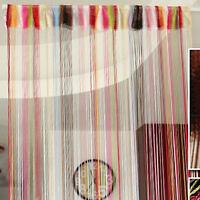 Home Colorful Fringe Door Window Panel Room Divider String Curtain Strip Tassel