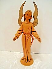 "Fontanini Angel 5 1/2"" Standing Pink Robe 1983 Spider Mark Nativity Figure Italy"