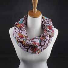 Fashion Womens Ladies Scarves Owl Print Scarf Warm Wrap Shawl Collar Voile Scarf