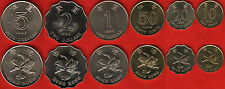 Hong Kong set of 6 coins: 10 cents - 5 dollars 1993-1998 UNC